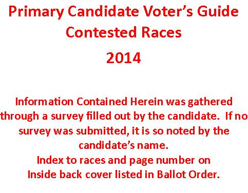 Contested Races – Click on Race to Go to that Page